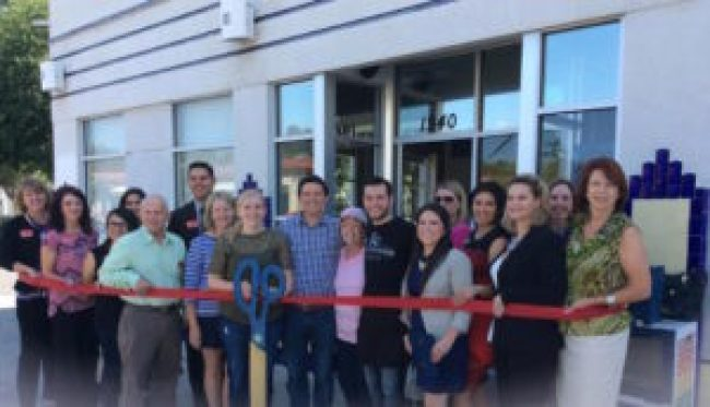 Ampersand Ice Cream Ribbon Cutting