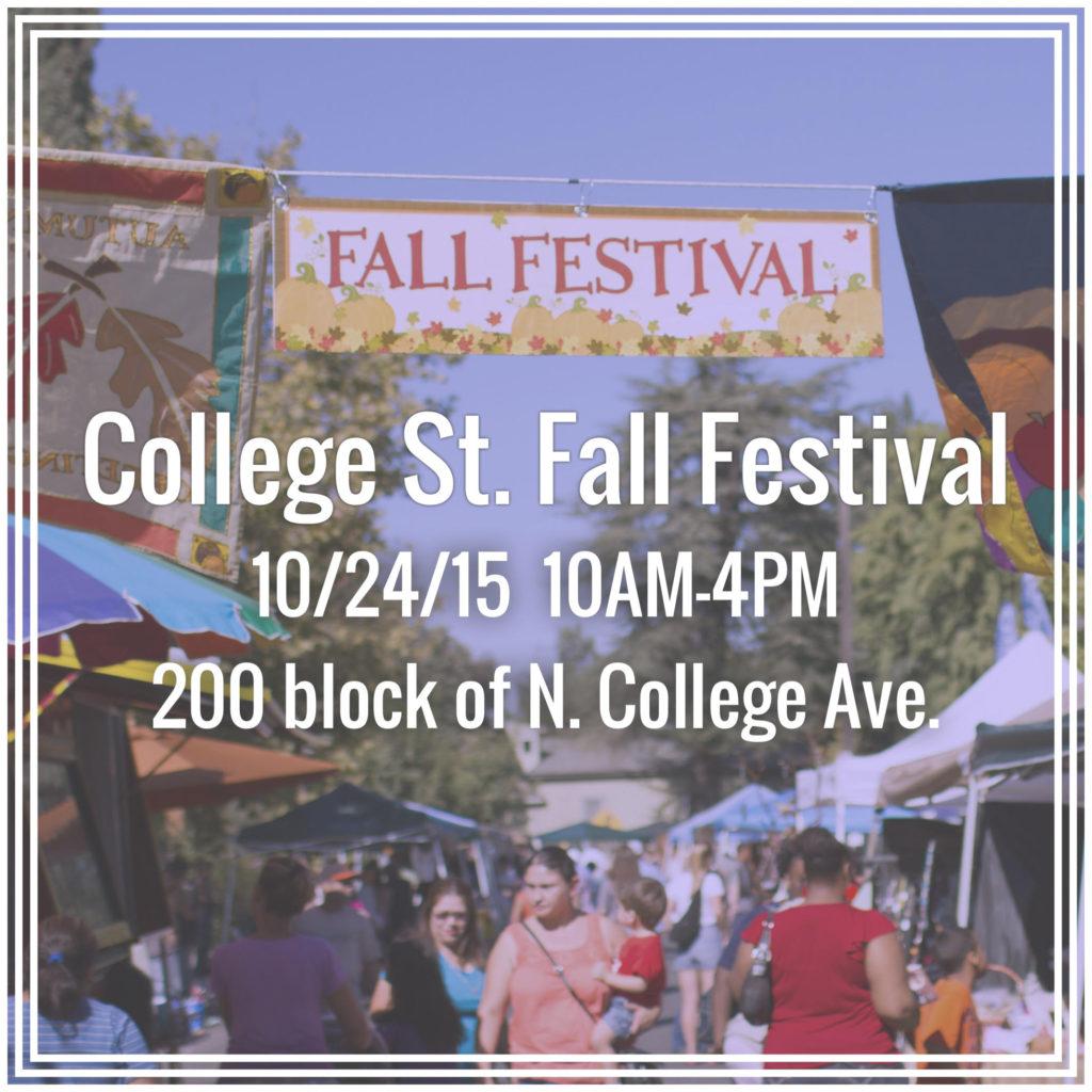 college st fall festival