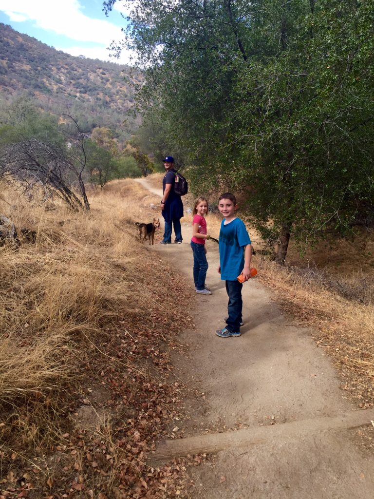 hiking the San Joaquin River Gorge with the family
