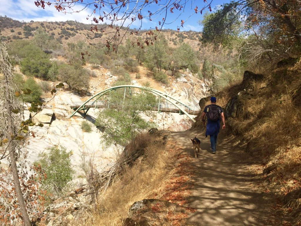 bridge over the hiking the San Joaquin River Gorge