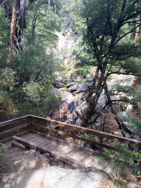 This wooden balcony lookout offers a beautiful view of Corlieu Falls