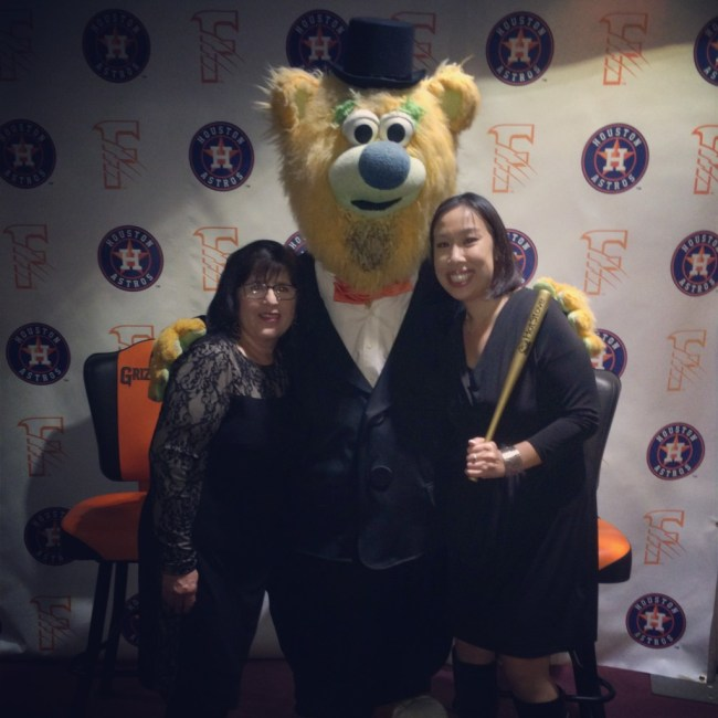 With Parker at the last Fresno Grizzlies celebration, Hot Stove.