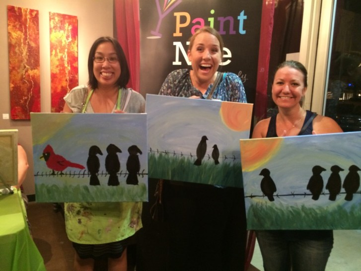 Our paint Nite paintings