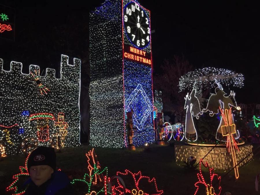 Christmas lights in Fresno