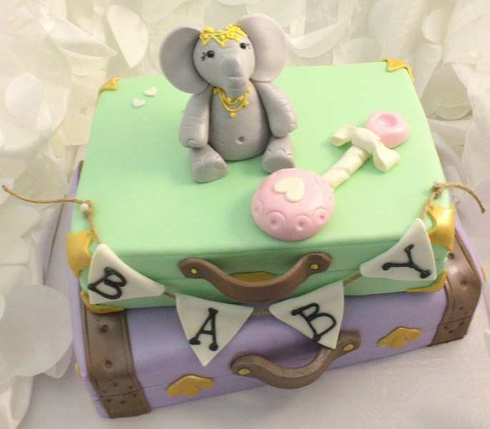 A baby shower cake from Frosted Cakery