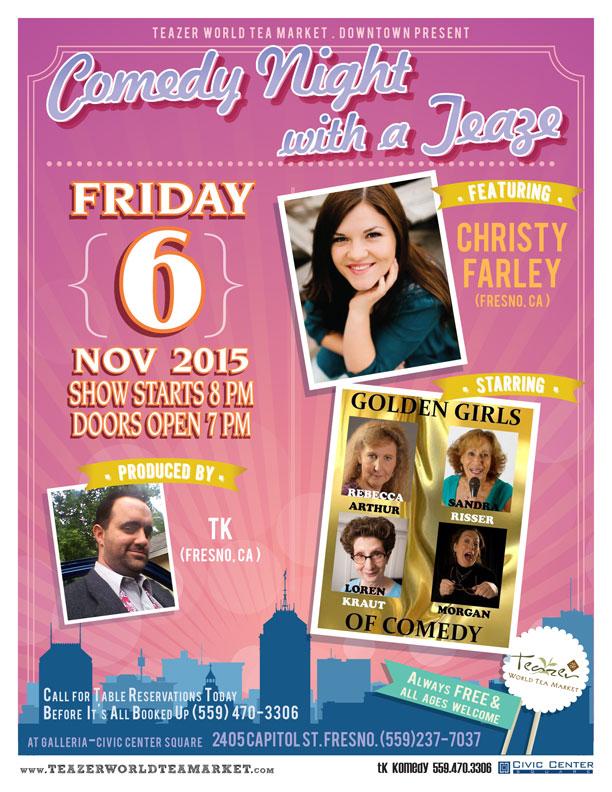 Comedian Christy Farley Flier