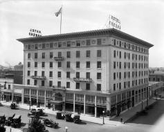 An undated photo of the Hotel Fresno when it was open.