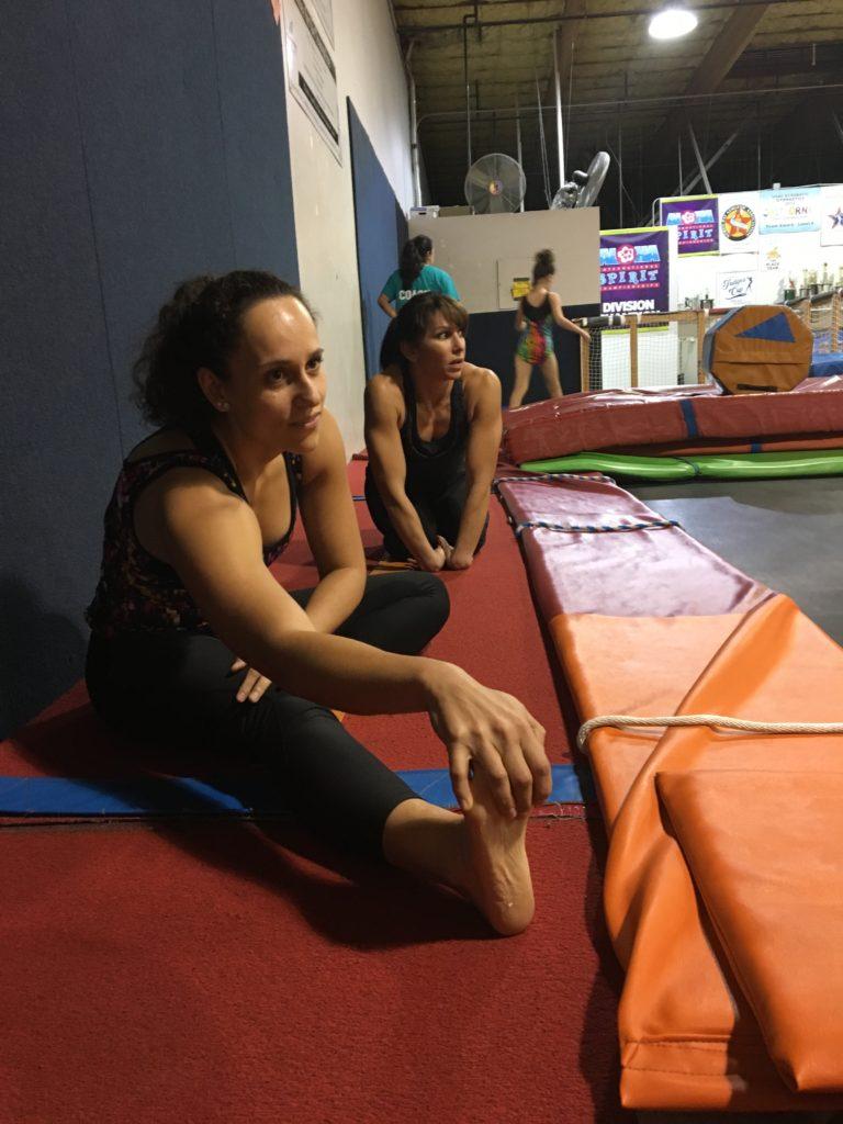 Stretching at Gymnastics Beat