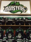 The Fresno Monsters locker room.