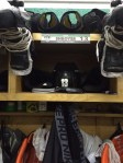 Shroyer's gear in the locker room.