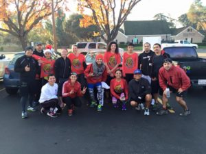 Working out with the Central Valley Spartan Athletes