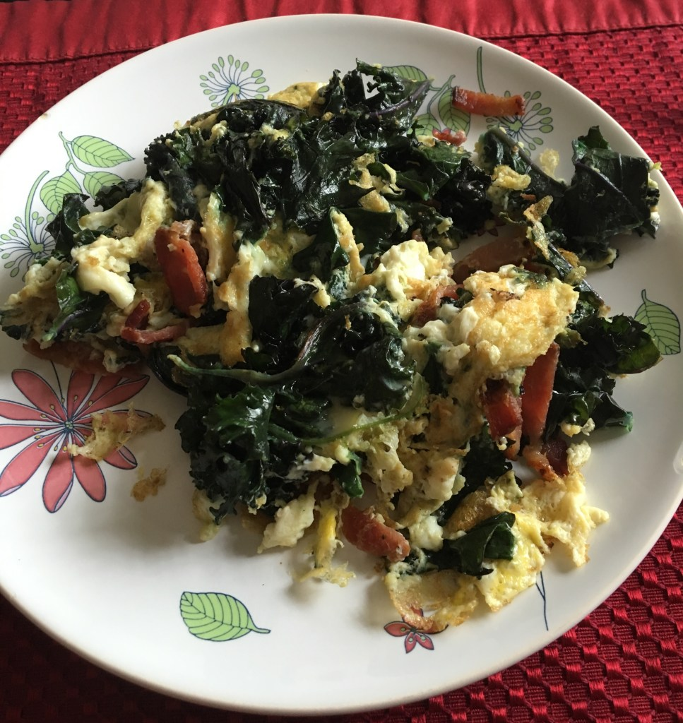 Scrambled Eggs with a bunch of veggies