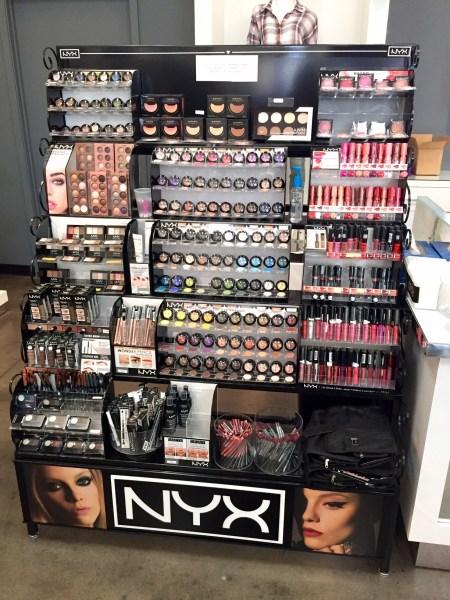 Fully-stocked jumbo NYX display - YES!