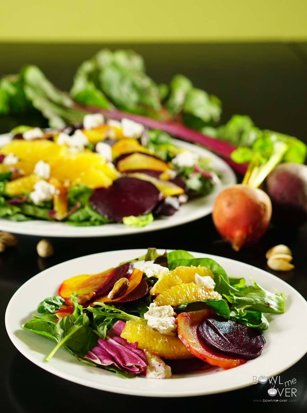 Roasted Beet Orange and Pistachio Salad