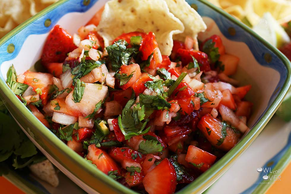 Strawberry Salsa - perfect with a glass of wine on a beautiful summer's day!