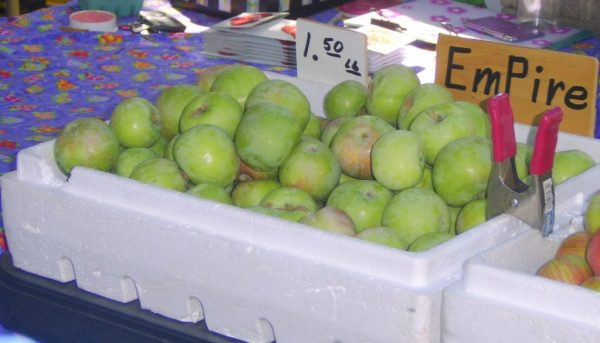 Empire Apples from the farmers market