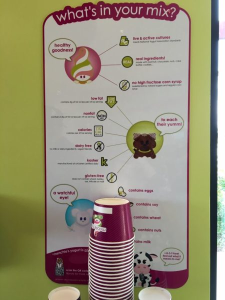 Posters in the store provide health and ingredient info