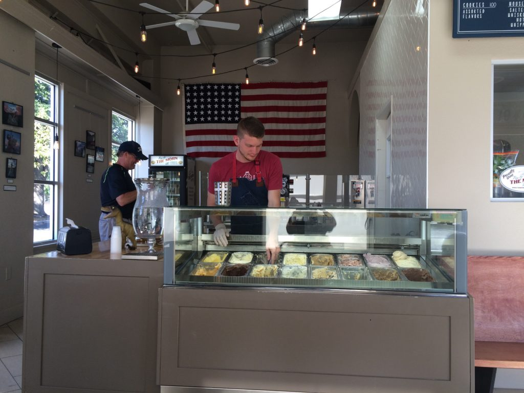Ampersand Ice Cream counter