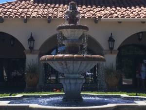Copper River Country Club fountain