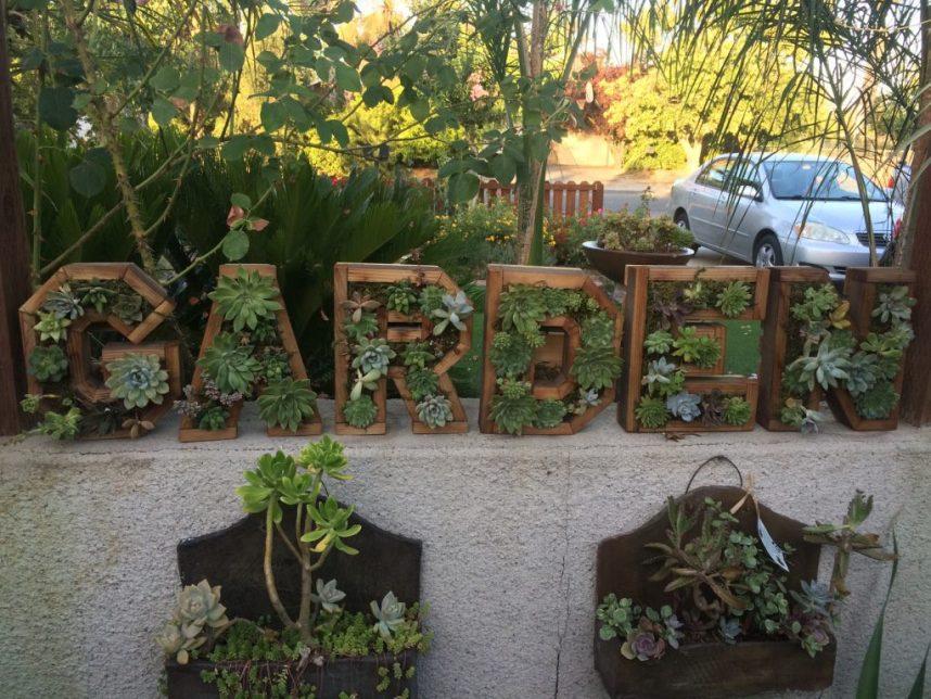 Garden letter succulent planter