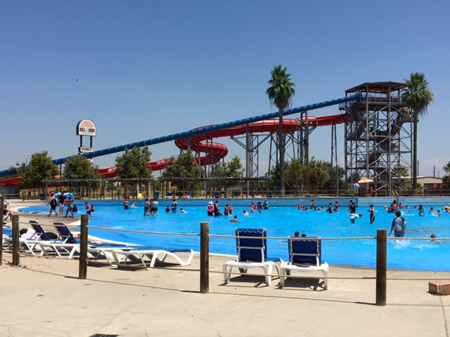 You never have to wait in line to get cooled off immediately in the wave pool!