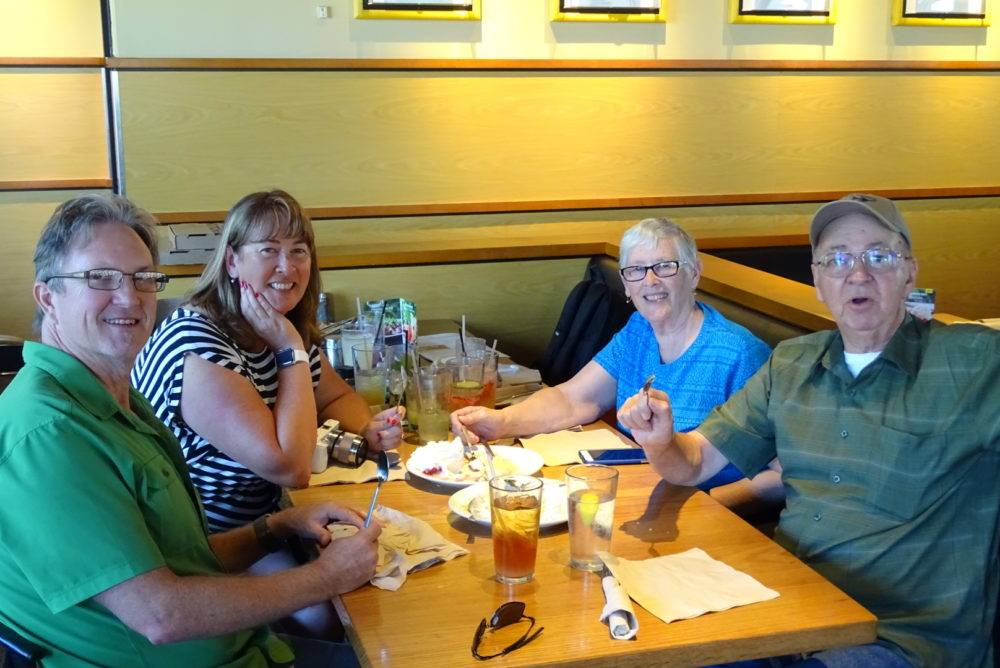 Mom, Dad, Dan & I at California Pizza Kitchen!