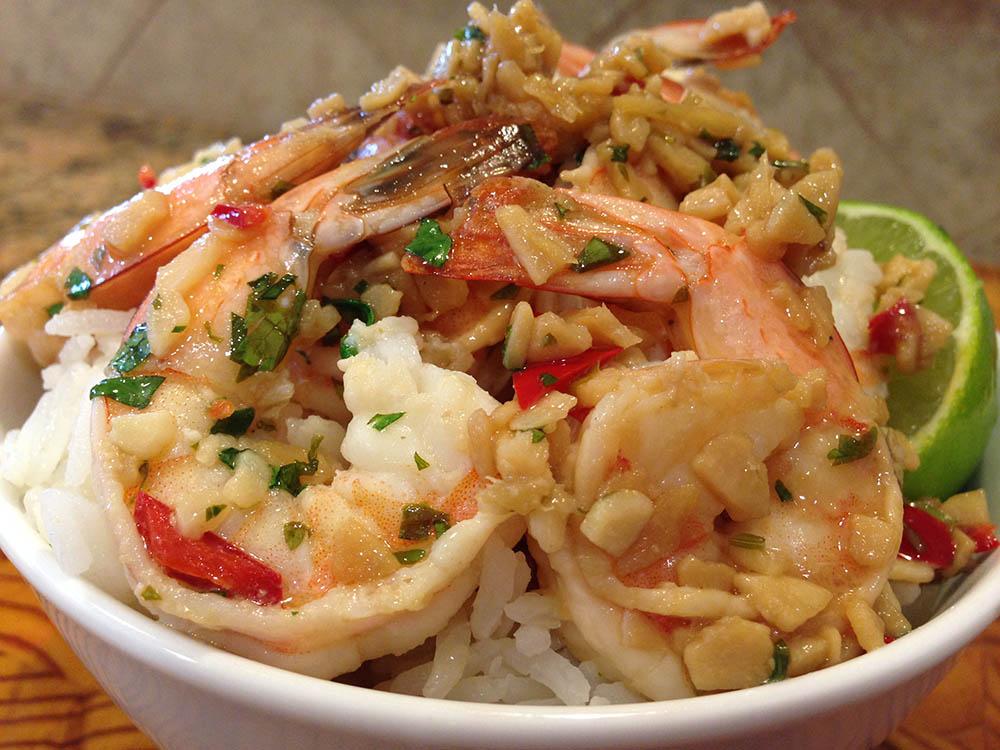 Garlic Shrimp Bowl