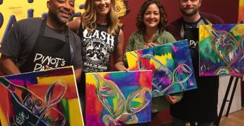 Come Paint at Pinot's Palette and Support St. Jude's Fight Against Childhood Cancer 9/28!