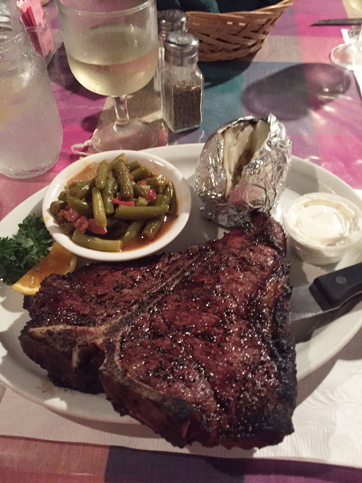 The 23oz. Porterhouse at the Rare Steer Steakhouse