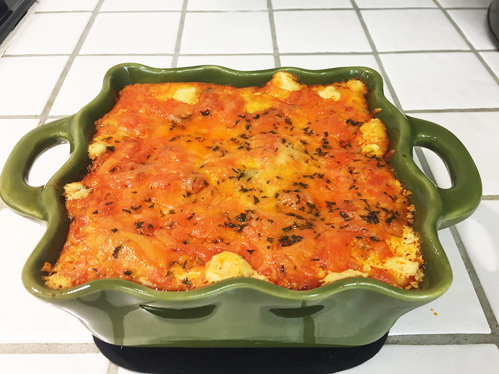 Buffalo Wing Dip out of the oven