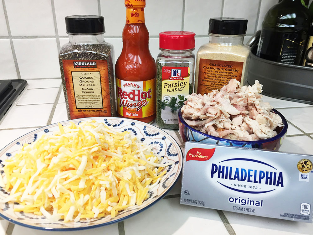 Buffalo Chicken Dip Appetizer Ingredients