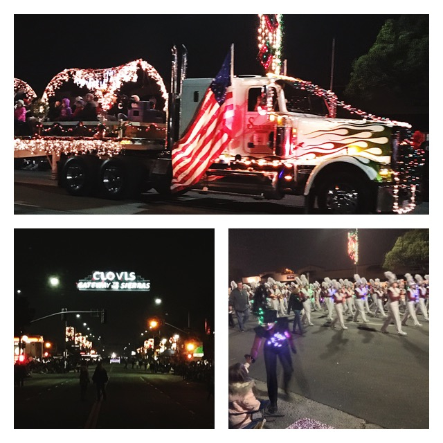 Cars in the Clovis Children's Electric Christmas Parade