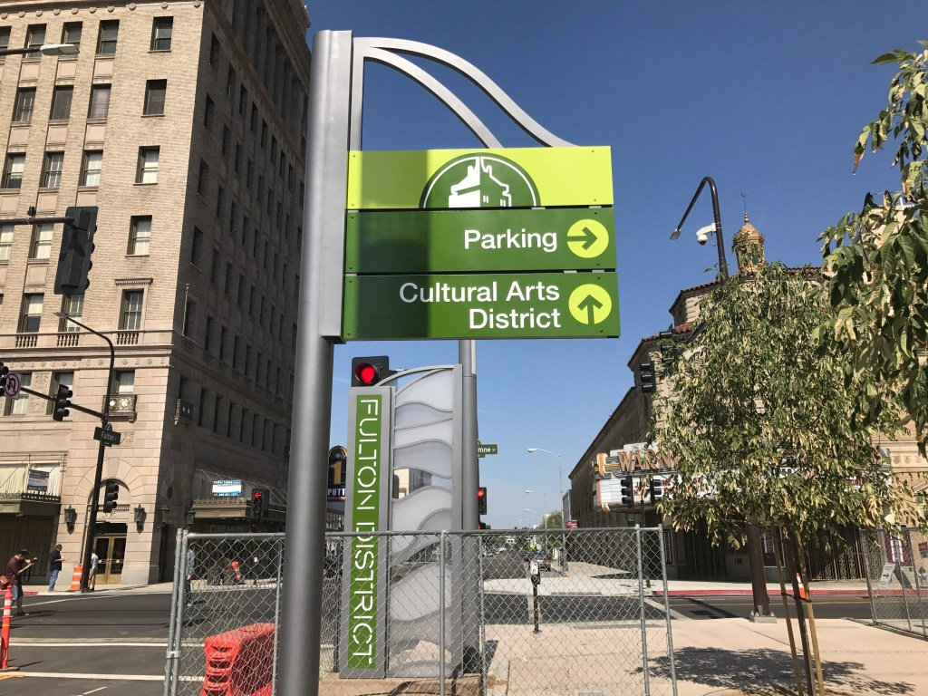 downtown Fresno signs