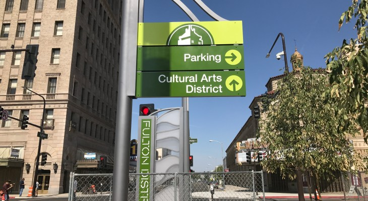 More signs added to downtown Fresno, and they look awesome