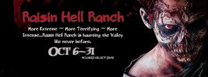Let Raisin Hell Ranch bring a little terror (or a lot or terror) to your Halloween