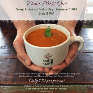 Learn to make soup at Tree of Life