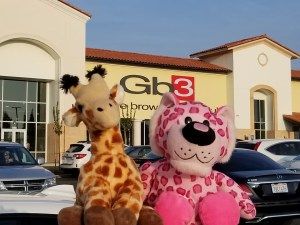 A pink leopard and a giraffe are touring Fresno, but what they really need is to return home