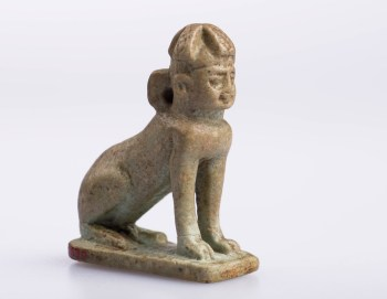 Sphinx amulet, Egyptian, Late Period