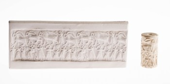 Cylinder seal, Mesopotamian, Early Dynasty III