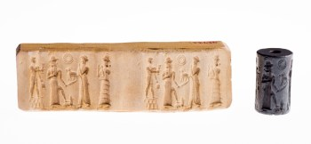 Cylinder seal, Old Babylonian, 19th-18th century BC