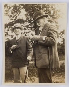 Image of Sigmund Freud and Ernest Jones. Kobenzl, Austria, 1918