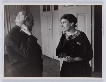 Image of August Aichhorn and Anna Freud. Budapest, 1937