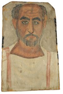 Fayum mummy portrait of middle-aged man, c.250 AD – 300 AD