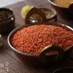 Curry Kokos Gemüse Suppe mit Feuerlinsen