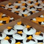 Muffin Arrangement als Hochzeitsgeschenk – vegetarisch