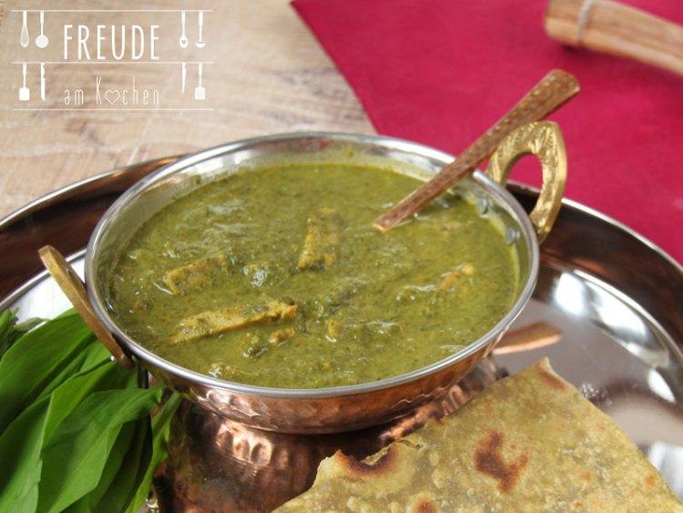 Bärlauch Paneer - Indisch - vegetarisch - Freude am Kochen
