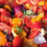 Gebackene Tomaten Paprika Suppe #vegan