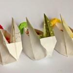 Origami Osterhasen Nest – DIY – selbermachen