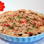 Brennessel Zucchini Quiche mit Cashew Guss