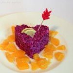 Valentinstag: Rotkraut Salat mit Orangen-Dressing